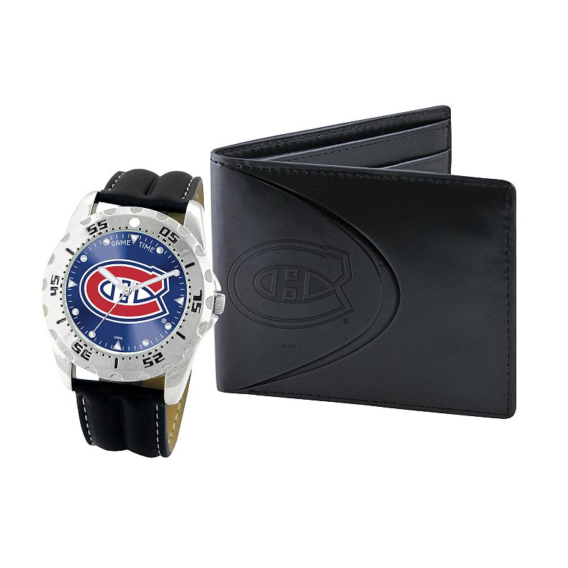 Montreal Canadiens Watch and Bifold Wallet Gift Set