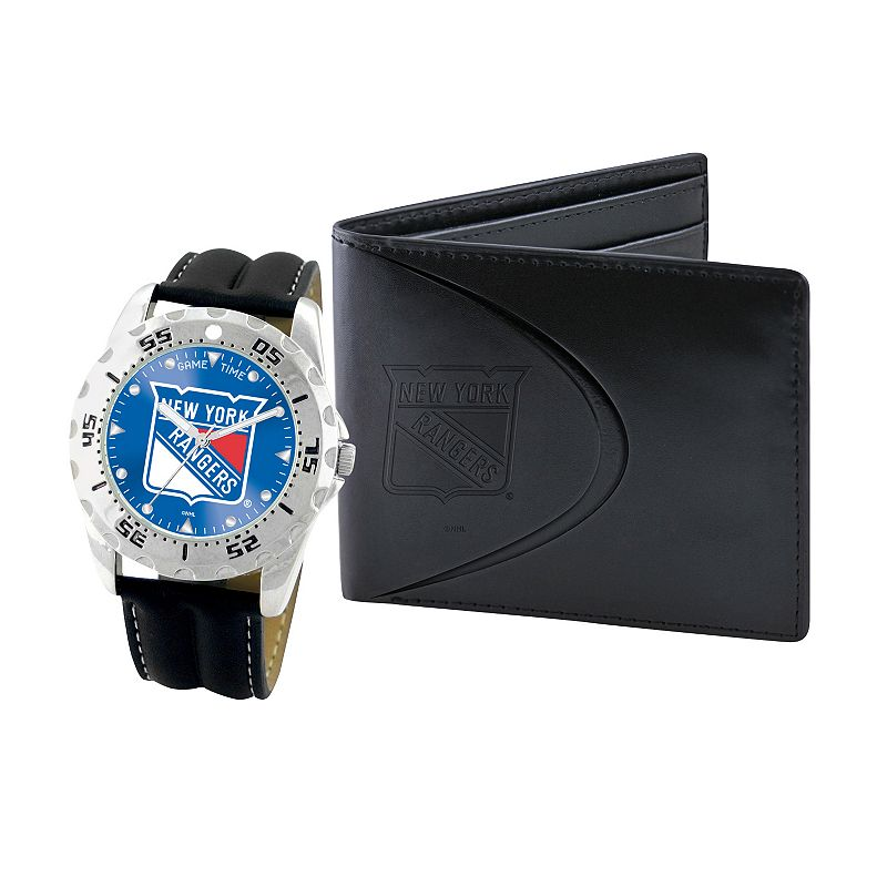 New York Rangers Watch and Bifold Wallet Gift Set