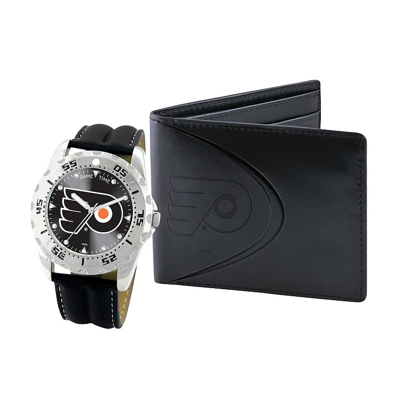 Philadelphia Flyers Watch and Bifold Wallet Gift Set