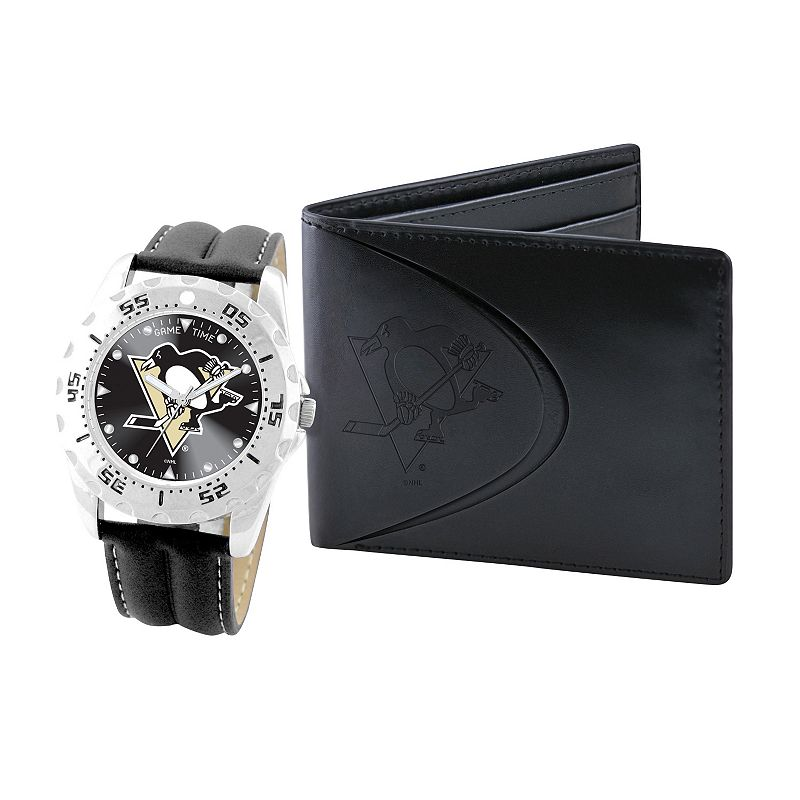 Pittsburgh Penguins Watch and Bifold Wallet Gift Set
