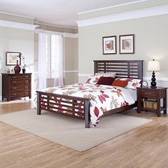 Cabin Creek 5-pc. King Headboard, Footboard, Bed Frame, 4-Drawer Chest & Nightstand Set by