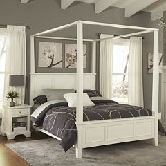 Home Styles Naples 4-pc. Queen Headboard, Footboard, Frame Canopy Bed and Nightstand Set by