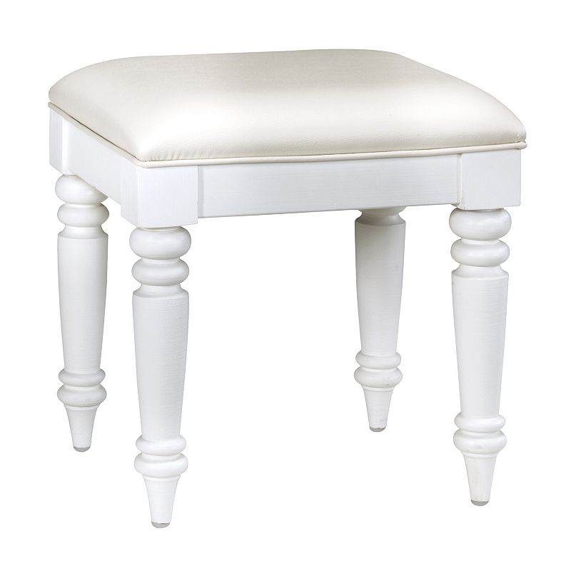 Bermuda White Vanity Bench