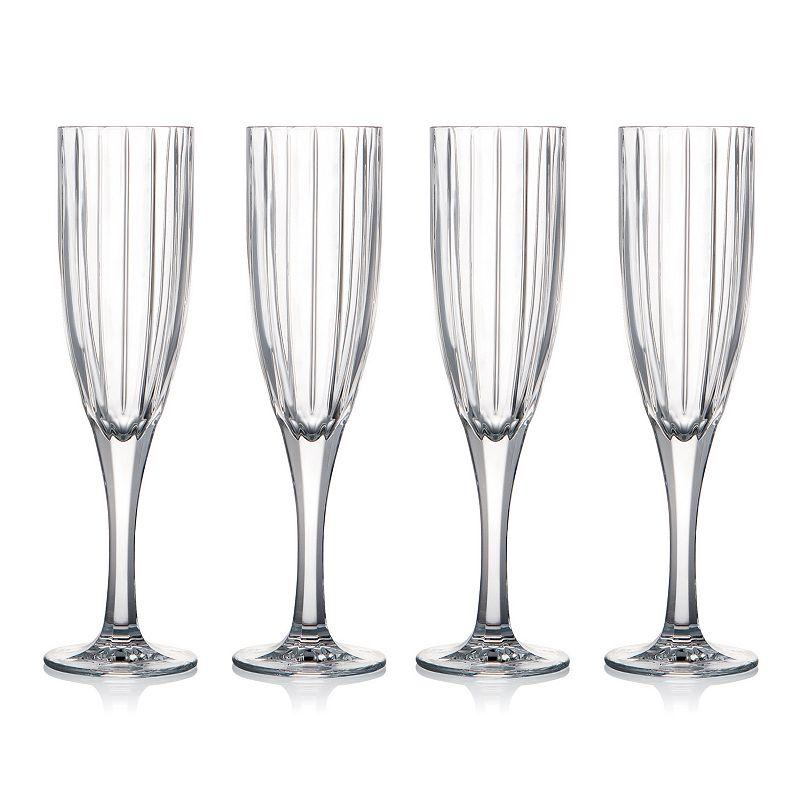 Celebration Crystal Hi Line 4-pc. Champagne Glass Set