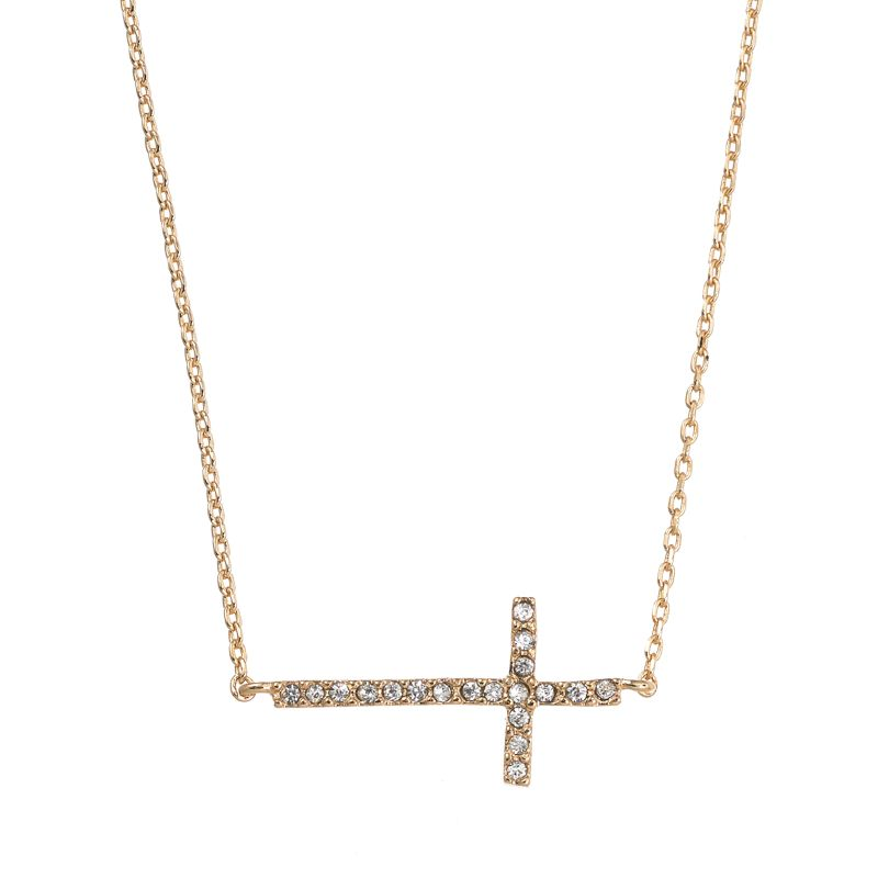 Sideways Cross Necklace Kohls Sideways Cross Necklace