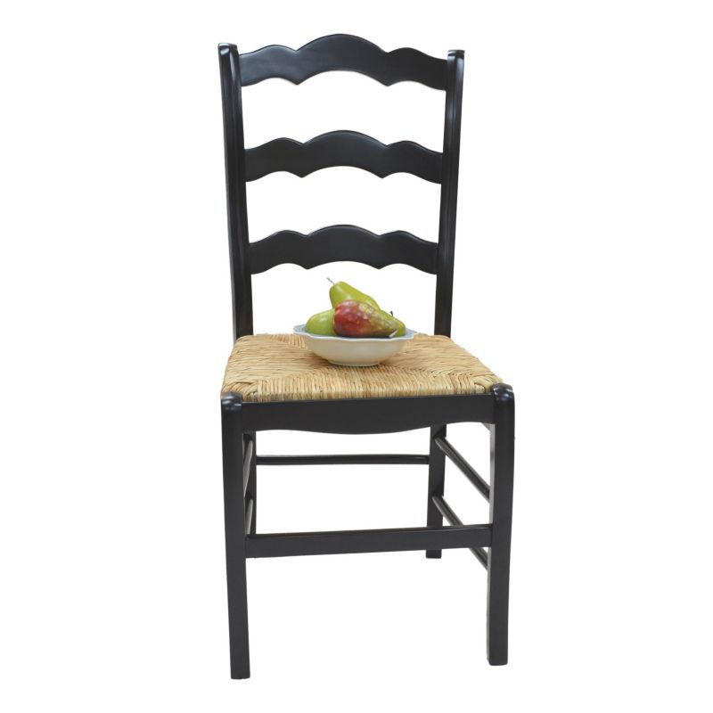 carolina cottage ladder back chair black