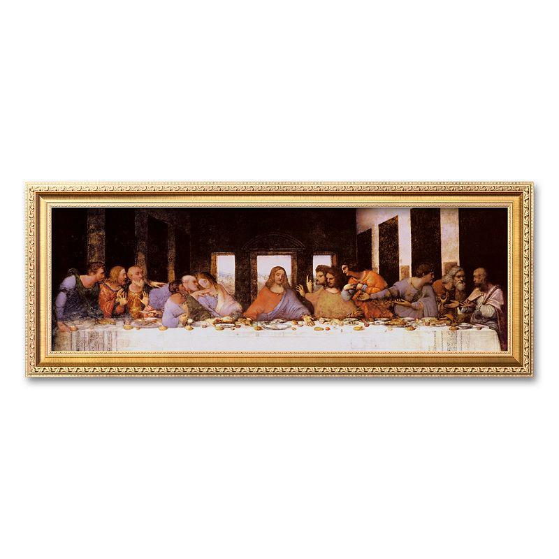 amanti art the last supper framed wall art by leonardo da. Black Bedroom Furniture Sets. Home Design Ideas