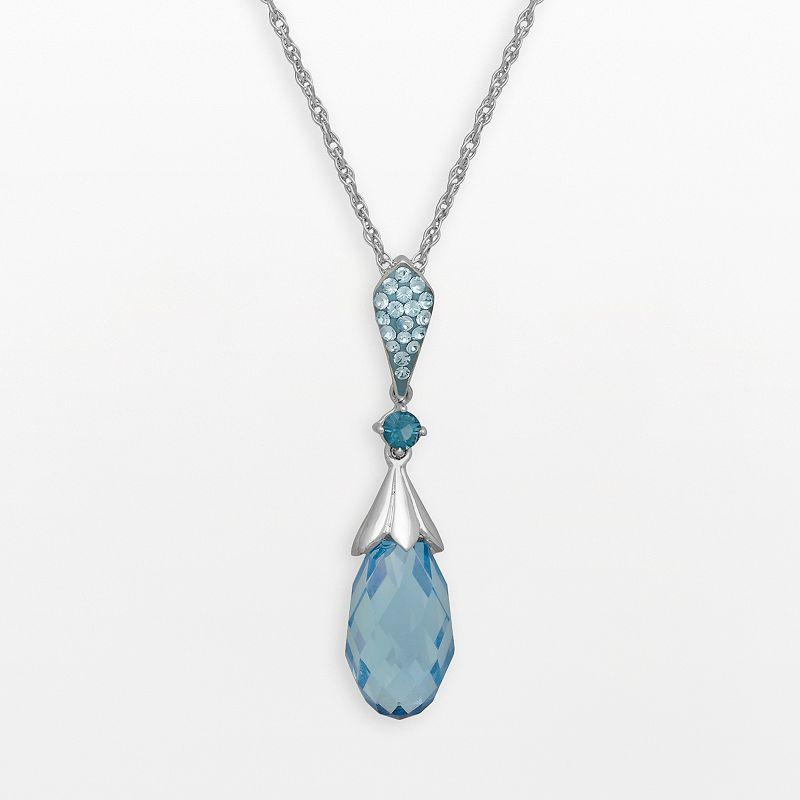 Artistique Sterling Silver Crystal Briolette Pendant - Made with Swarovski Crystals