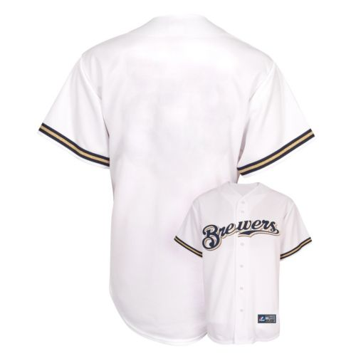 Boys 8-20 Majestic Milwaukee Brewers Replica MLB Jersey