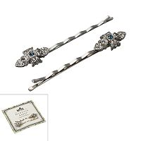 Downton Abbey® Silver Tone Simulated Crystal Bobby Pin Set