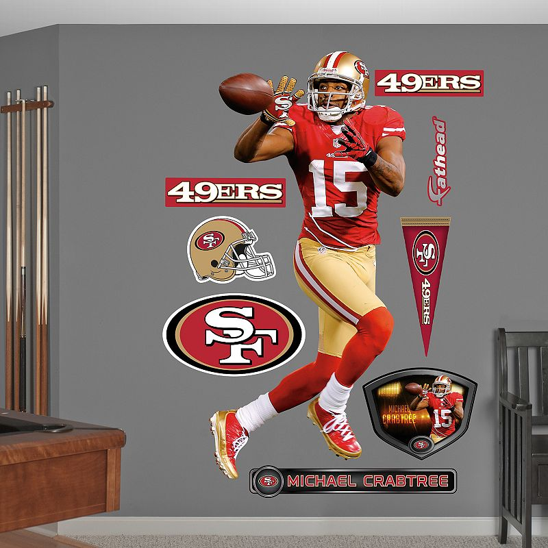 Fathead San Francisco 49ers Michael Crabtree Wall Decals