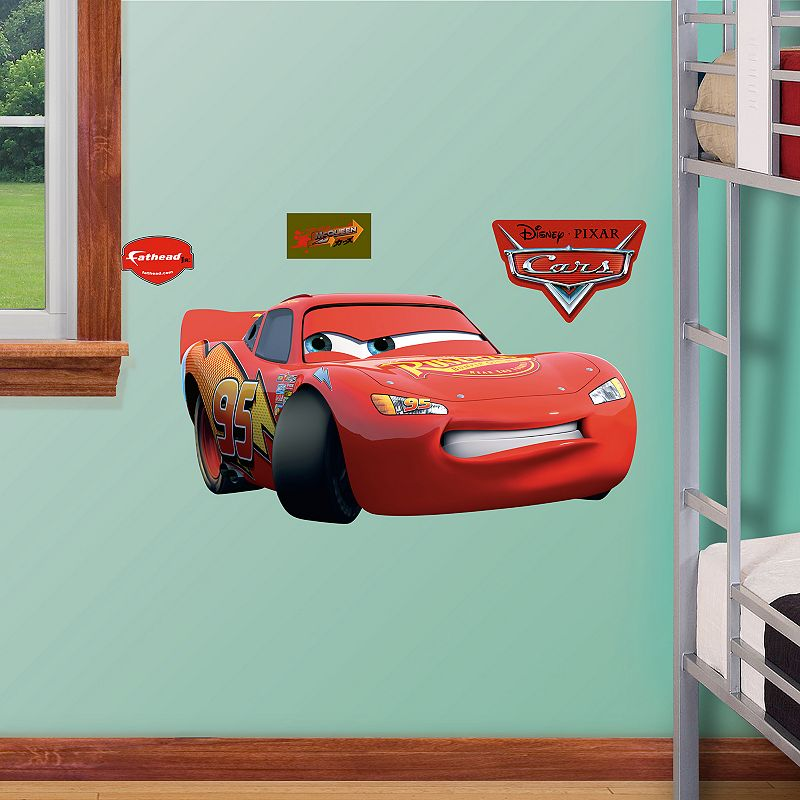 Disney pixar cars lightning mcqueen wall decals by fathead - Disney pixar cars wall mural ...
