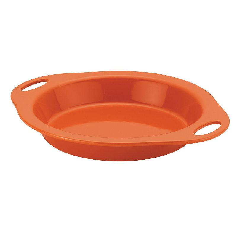 Rachael Ray Orange Stoneware 9-in. Pie Baker