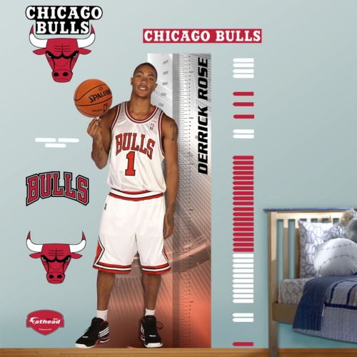 Fathead Chicago Bulls Derrick Rose Growth Chart Wall Decals