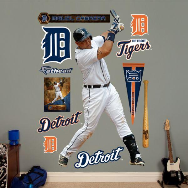 Fathead Detroit Tigers Miguel Cabrera Wall Decals