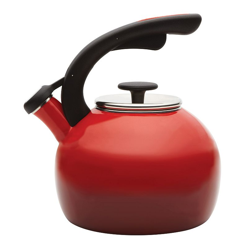 Rachael Ray 2-qt. Crescent Whistling Teakettle