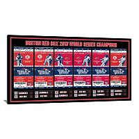 Boston Red Sox 2013 World Series Tickets To History Canvas Print