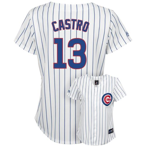 Girls 7-16 Majestic Chicago Cubs Starlin Castro Jersey