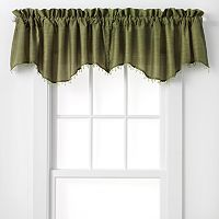 Curtainworks Faux-Silk Road Shaped Window Valance - 50