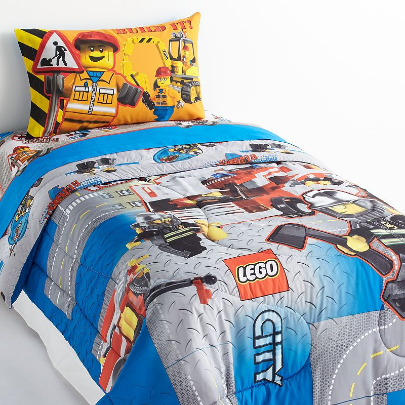 LEGO City 4-pc. Reversible Bed Set - Twin