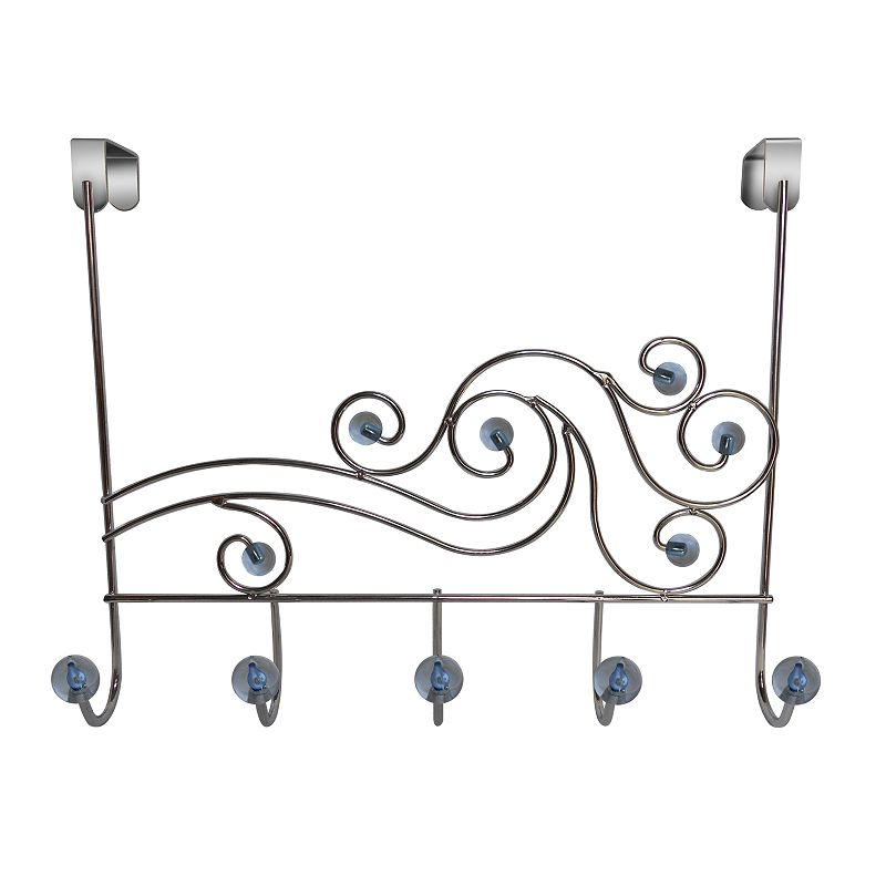 Elegant Home Fashions Phoenix Over-The-Door 5-Hook Metal Hanger