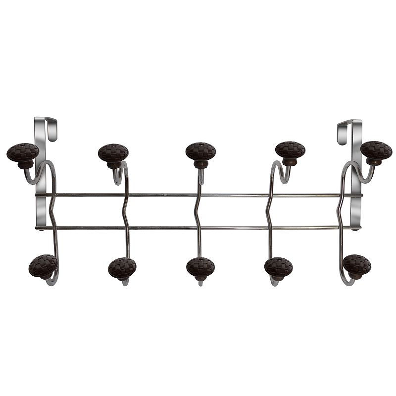Elegant Home Fashions Woven Over-The-Door 5-Hook Metal Hanger
