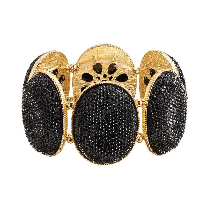 GS by gemma simone Gold Tone Stretch Bracelet