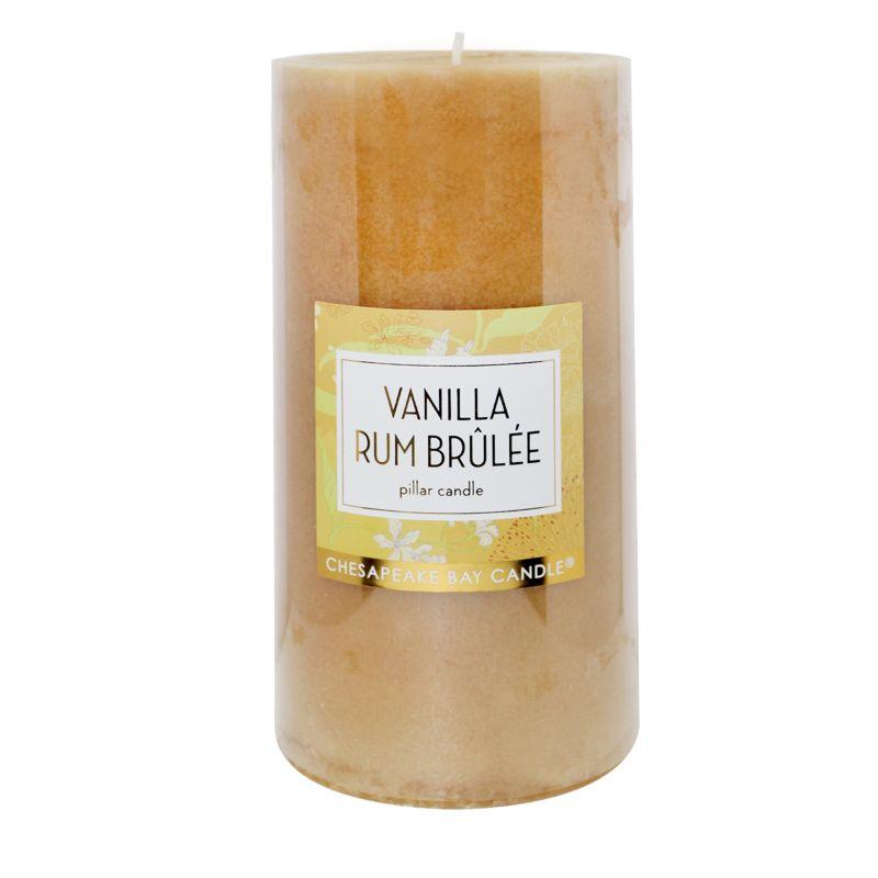 Chesapeake Bay Candle 4 x 8 Vanilla Rum Brulee Pillar Candle