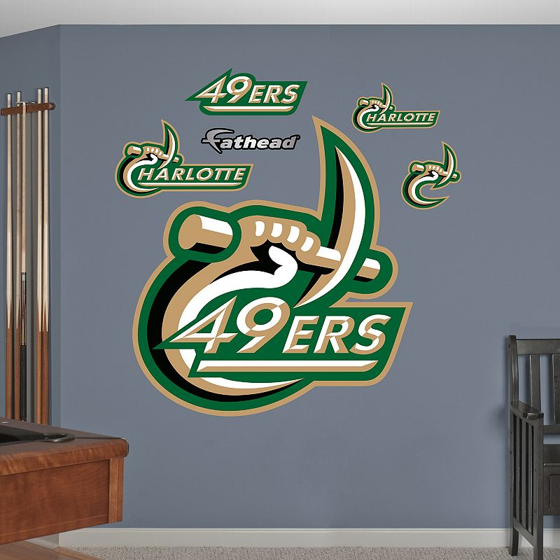 Fathead Charlotte 49ers Wall Decals