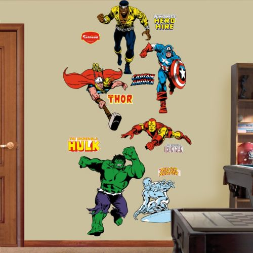 super hero wall decals by fathead wall stickers super heros red and cat