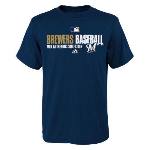 Majestic Milwaukee Brewers AC Team Favorite Tee - Boys 8-20