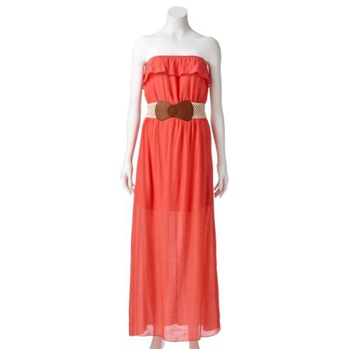 Juniors' Trixxi Ruffle Maxi Dress