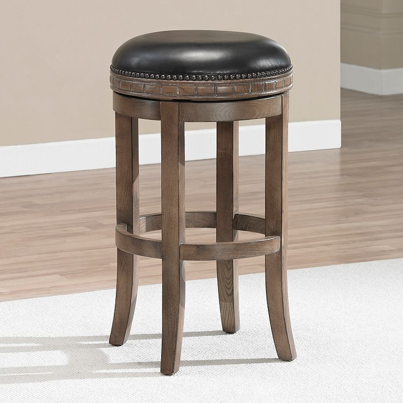 American Heritage Billiards Sonoma Weathered Oak Swivel Bar Stool