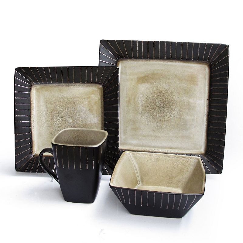 american atelier stonegate 16 pc square dinnerware set
