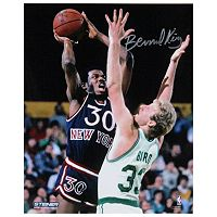 Steiner Sports Bernard King Jumper Over Larry Bird 8'' x 10'' Signed Photo