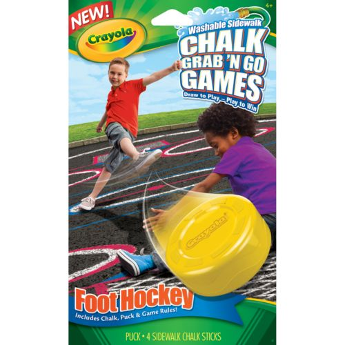 Crayola Chalk Grab 'N Go Games Foot Hockey