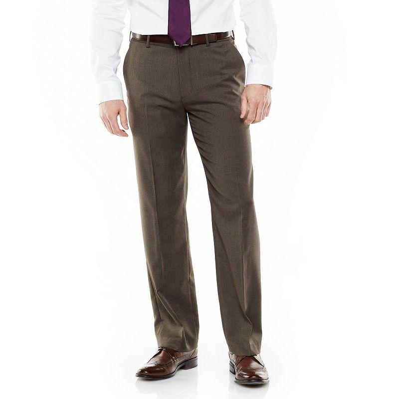 Men's Van Heusen No Iron Straight-Fit Flat-Front Dress Pants