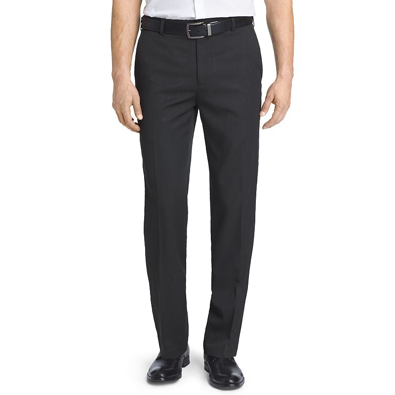 Men's Van Heusen Micro Melange Straight-Fit Flat-Front Dress Pants