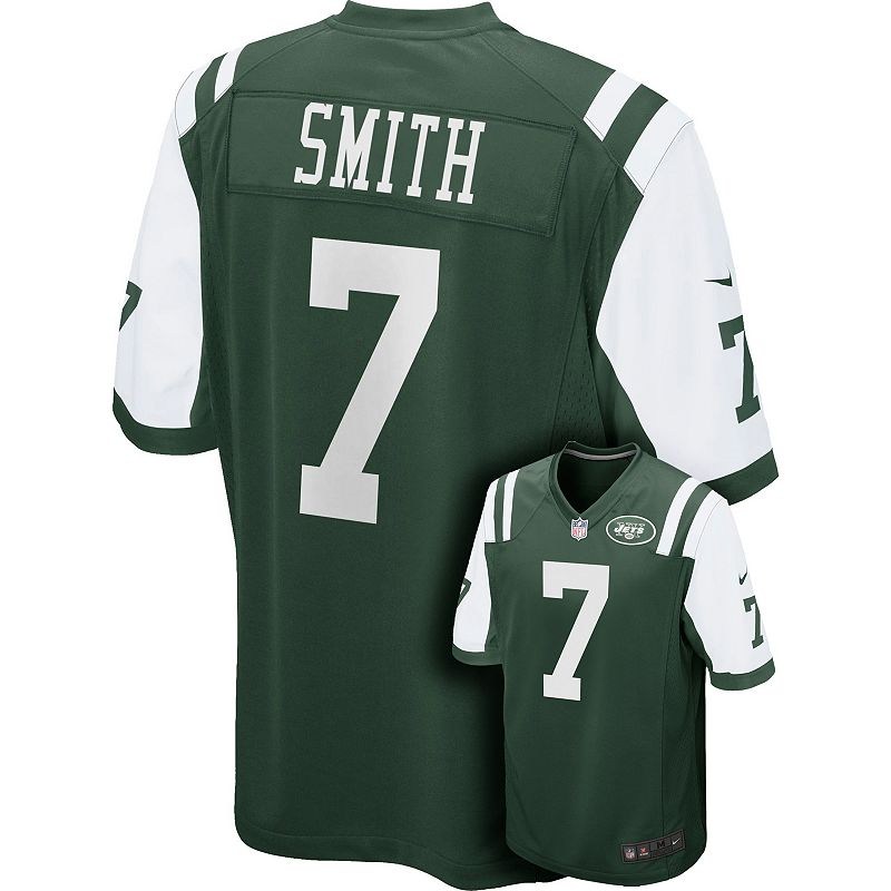 Men's Nike New York Jets Geno Smith Game NFL Replica Jersey