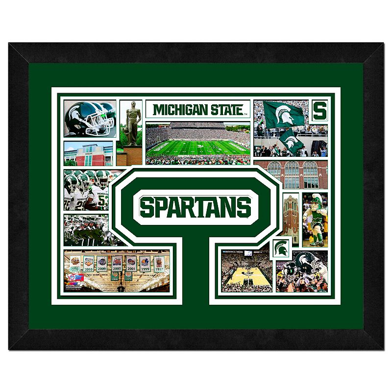 Michigan State Spartans Framed Milestones and Memories 11'' x 14'' Wall Art