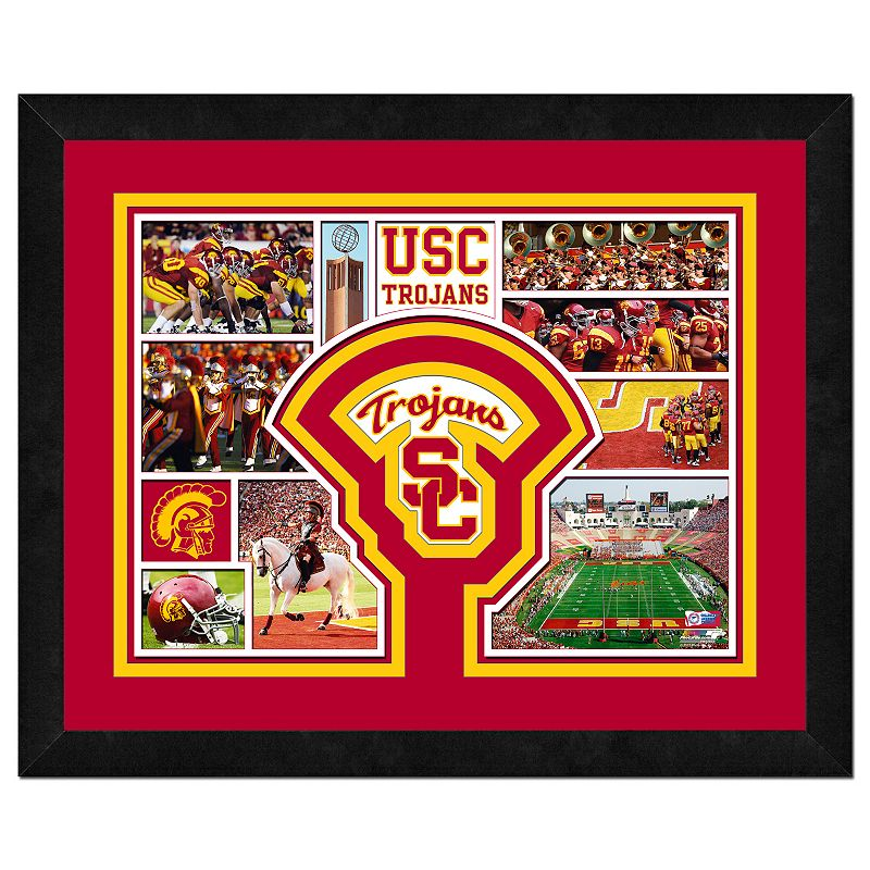 USC Trojans Framed Milestones and Memories 11'' x 14'' Wall Art