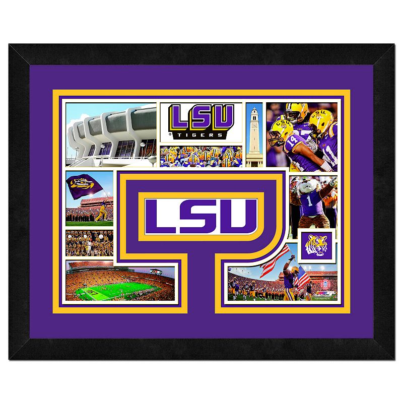 LSU Tigers Framed Milestones and Memories 11'' x 14'' Wall Art
