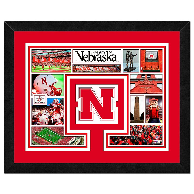 Nebraska Cornhuskers Framed Milestones and Memories 11'' x 14'' Wall Art