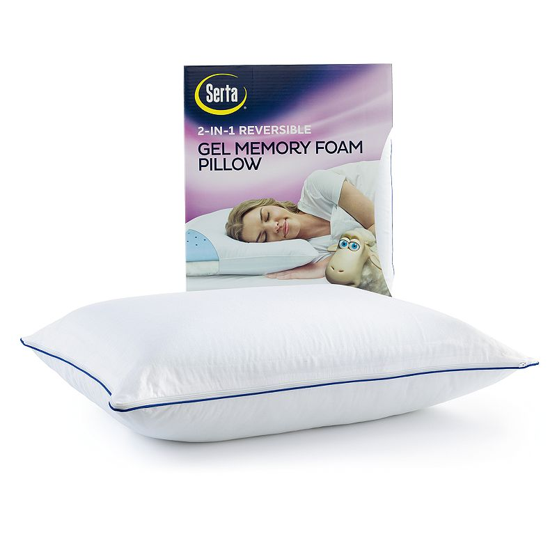 Serta 2-in-1 Reversible Gel Memory Foam Pillow