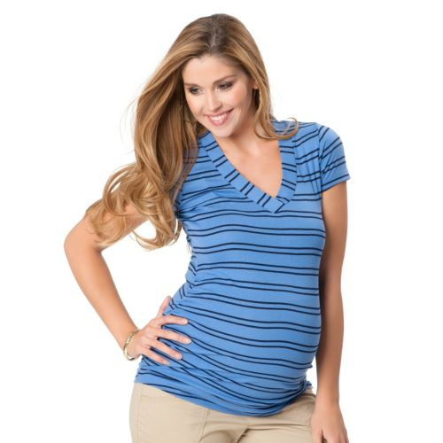 Oh Baby by Motherhood™ Striped Ruched Tee - Maternity