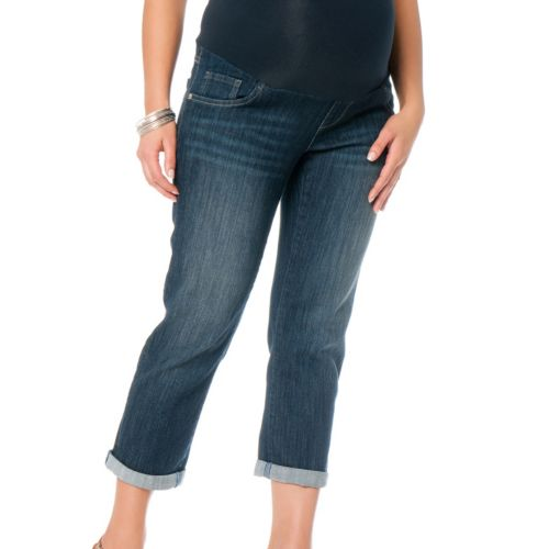 Oh Baby by Motherhood™ Secret Fit Belly Cuffed Crop Jeans - Maternity