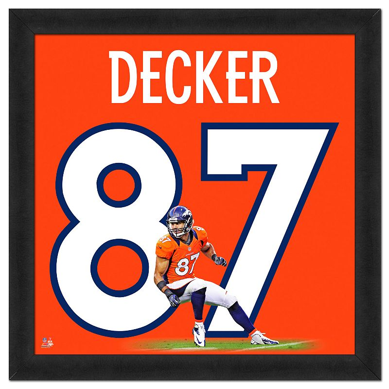 Denver Broncos Eric Decker Framed Jersey Photo