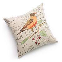 Terry Bird Decorative Pillow