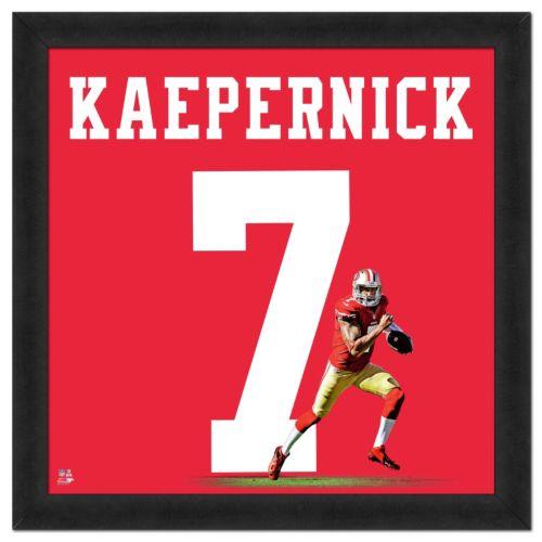 San Francisco 49ers Colin Kaepernick Framed Jersey Photo
