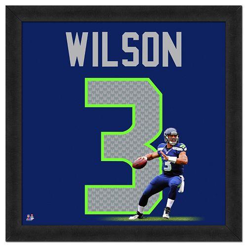 NFL Jerseys Sale - Seattle Seahawks Russell Wilson Framed Jersey Photo Seattle  Seahawks Russell Wilson GAME ... 5020272ea
